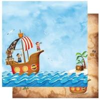 Scrapbooking Papier Pirats (Restbestand)