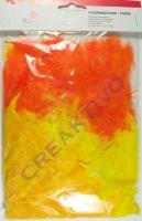 Federmischung 3-10cm Gelb/Orange-Töne