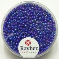 Rocailles 2 mm ø opak gelüstert dunkelblau