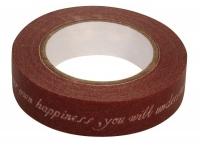 Rayher Washi Tape Scriptum braun