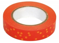 Rayher Washi Tape Blüten orange