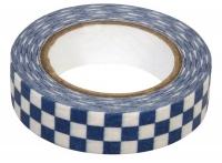Rayher Washi Tape Schachbrett blau