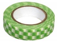 Rayher Washi Tape Schachbrett grün