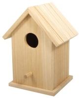 Holz Vogelhaus Box, 12,5x10x17cm, zweiteilig
