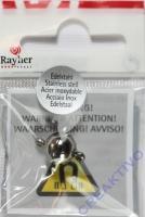 Rayher Edelstahl Magnetschließe 10mm platin