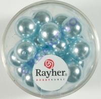Renaissance Glaswachsperlen, 10 mm ø hellblau