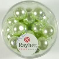 Renaissance Glaswachsperlen, 10 mm ø lindgrün