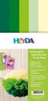 Seidenpapier für Paper Pompons Grün-Töne