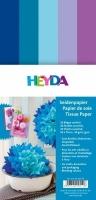 Seidenpapier für Paper Pompons Blau-Töne