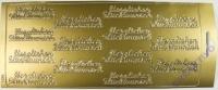 Rayher Stickerbogen Herzlichen Glückwunsch 22x9cm goldf.