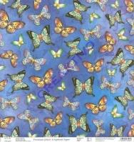 Premium Glitter Scrapbook paper Schmetterlinge 74
