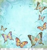 Premium Glitter Scrapbook paper Schmetterlinge 73
