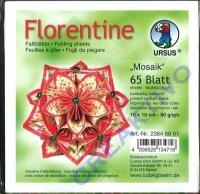 Florentine Faltblätter Mosaik 10x10cm 65 Blatt rot