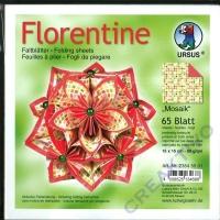 Florentine Faltblätter Mosaik 15x15cm 65 Blatt rot