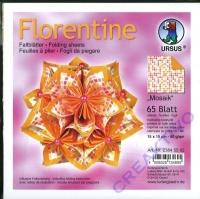 Florentine Faltblätter Mosaik 15x15cm 65 Blatt orange