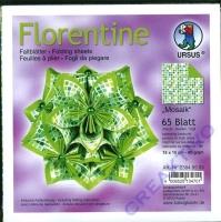 Florentine Faltblätter Mosaik 15x15cm 65 Blatt grün