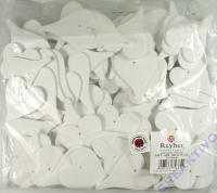 Holz-Herzen 6cm weiß Großpackung
