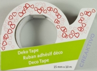 Heyda Deko Tape rot-weiße Herzen