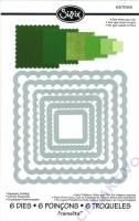 Rayher Sizzix Framelits Schablonenset Quadrate gezahnt