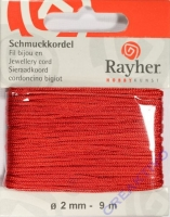 Schmuckkordel 2mm 9m rot