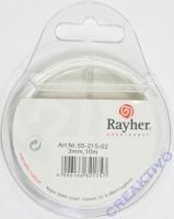 Rayher Organzaband 3mm 10m weiß