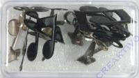 Brads Noten + Notenschlüssel 25mm 3 Sorten 14 Stück