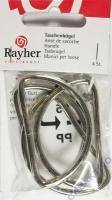 Rayher Taschenbügel silber 4 Stück