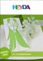 Heyda Bastelidee Nr. 20 - Hochzeitskarte