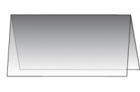 Einlegekarte Transparentpapier für DIN-Lang Doppelkarte