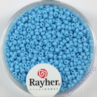 Rocailles 2 mm ø opak hellblau