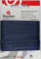 Baumwoll-Kordel gewachst 20m dunkelblau