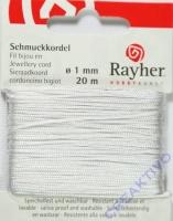 Rayher Schmuckkordel 20m 1mm weiß