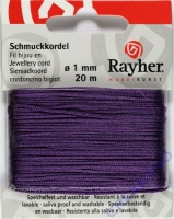 Rayher Schmuckkordel 20m 1mm lila