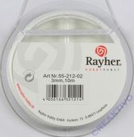 Rayher Satinband 3mm 10m weiß