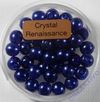 Crystal Renaissance Perlen 6mm dunkelblau