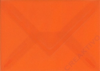 Transparenter Umschlag B6 orange