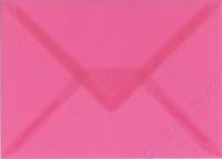 Transparenter Umschlag B6 rosa