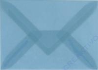 Transparenter Umschlag B6 hellblau