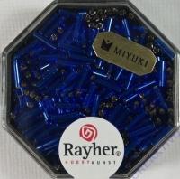 Miyuki Glasstifte mit Silbereinzug royalblau