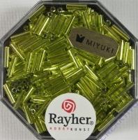 Miyuki Glasstifte mit Silbereinzug apfelgrün