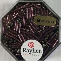 Miyuki Glasstifte mit Silbereinzug amethyst