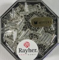 Miyuki Glasstifte mit Silbereinzug bergkristall
