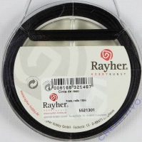 Rayher Satinband 7mm 10m schwarz
