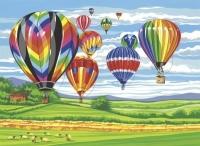 Malen nach Zahlen - Heißluftballons