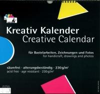 Kreativ Kalender 33 x 34,5 cm schwarz (Restbestand)