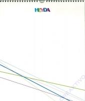 Kreativkalender 29,7 x 35 cm weiß (Restbestand)