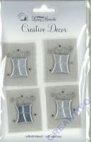 Heyda Living Moments 4x Geschenke silber (Auslaufmodel)
