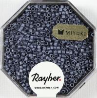 Delica Rocailles 1,6mm metallic matt blaugrau