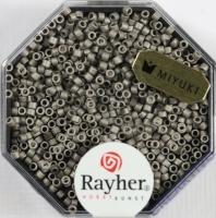 Delica Rocailles 1,6mm metallic matt stahlgrau