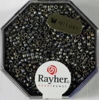 Delica Rocailles 1,6mm metallic matt anthrazit